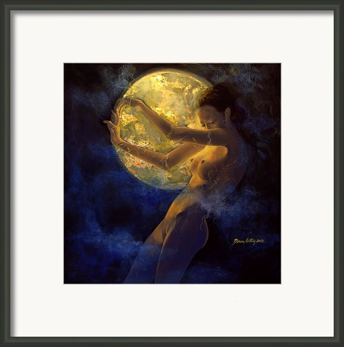 Full Moon Framed Print By Dorina  Costras