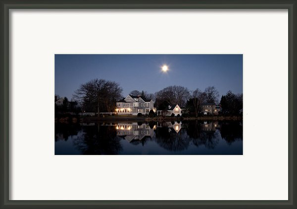 Full Moon Over Babylon Framed Print By Vicki Jauron