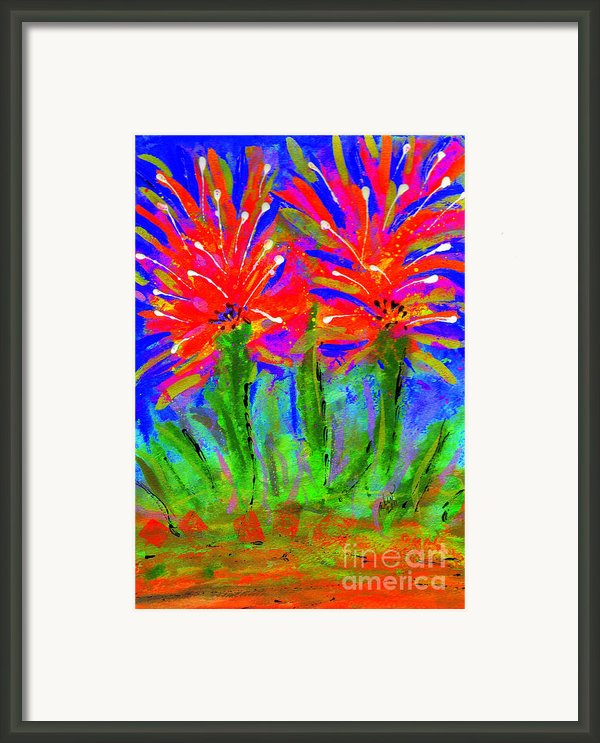 Funky Flower Towers Framed Print By Angela L Walker