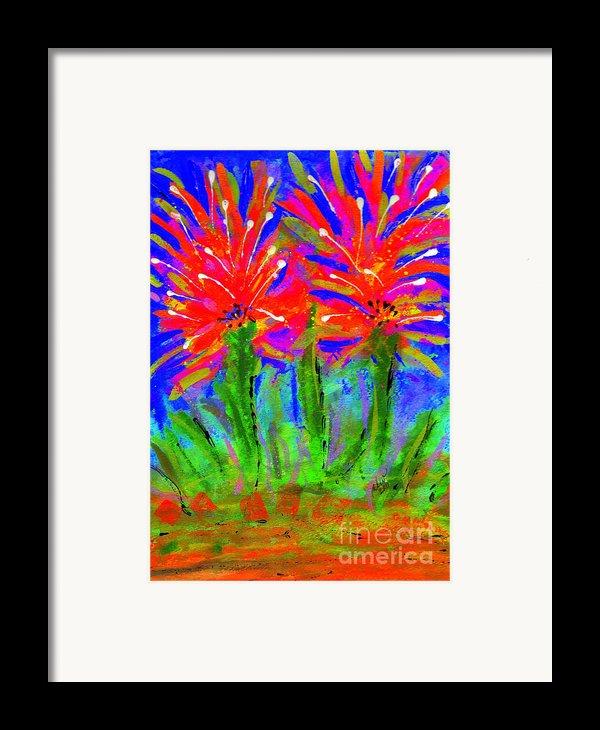 Funky Flower Towers Framed Print By Angela L Walker