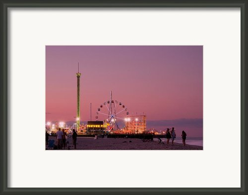 Funtown Pier At Sunset Iii - Jersey Shore Framed Print By Angie Mckenzie