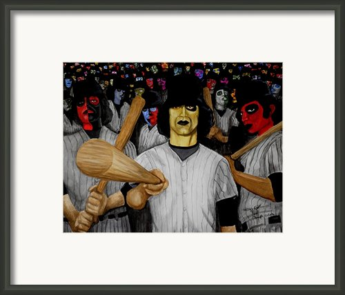 Furies Up To Bat Framed Print By Al  Molina