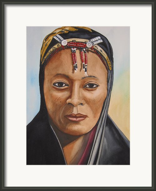 Gabbra Woman In Black  Framed Print By Emmanuel Turner