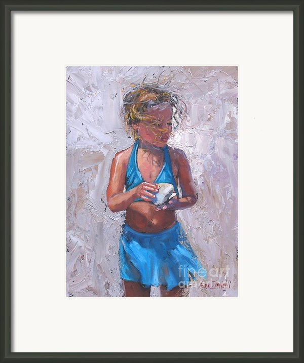 Gabby Framed Print By Laura Lee Zanghetti