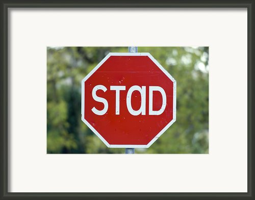 Gaelic Stop Sign Near Doocharry Framed Print By Rich Reid