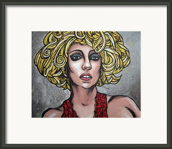 Gaga Framed Print By Sarah Crumpler