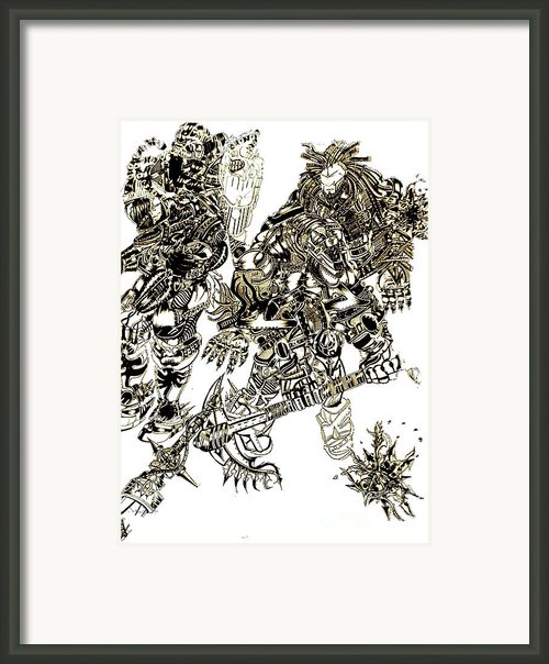 Galactic Warriors Framed Print By Zydrisch Silva