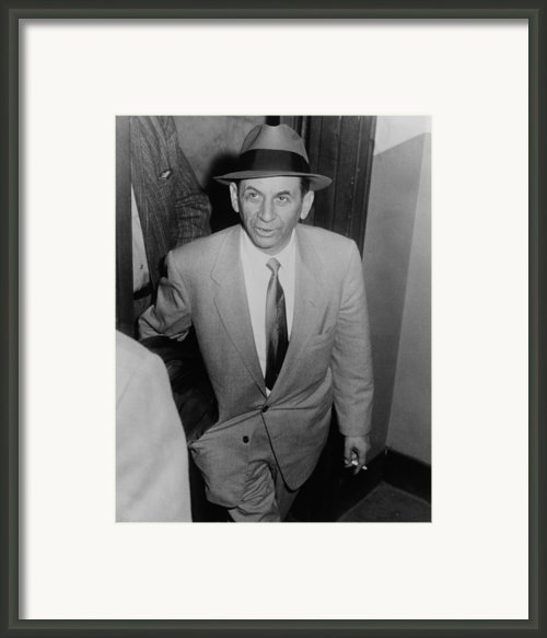 Gambling Boss Meyer Lansky 1902-1983 Framed Print By Everett