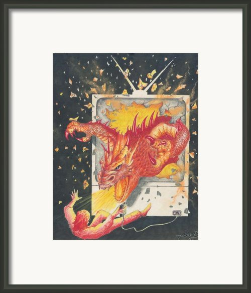 Game Over Framed Print By Julian  B