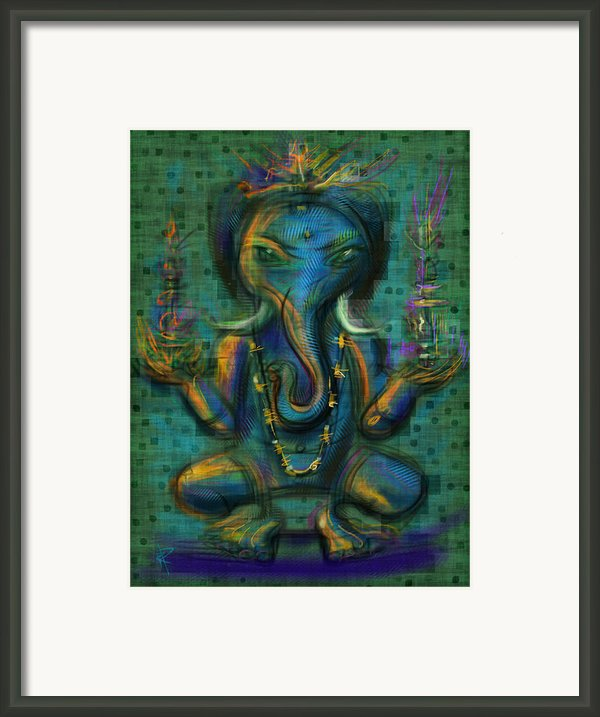 Ganesha Framed Print By Russell Pierce