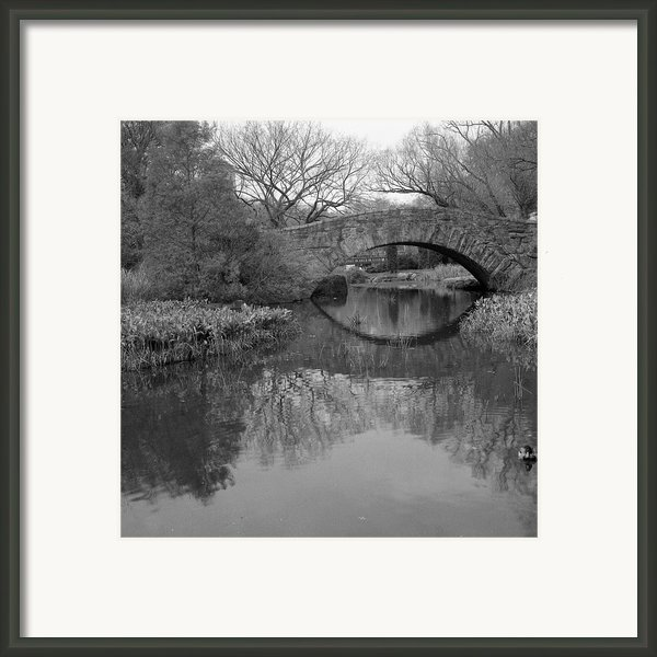 Gapstow Bridge - Central Park - New York City Framed Print By Holden Richards