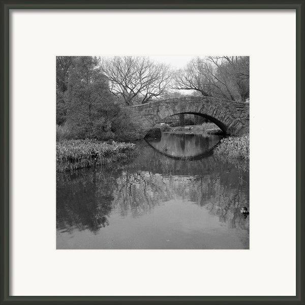 Gapstow Bridge - Central Park - New York City Framed Print By Holden Richards