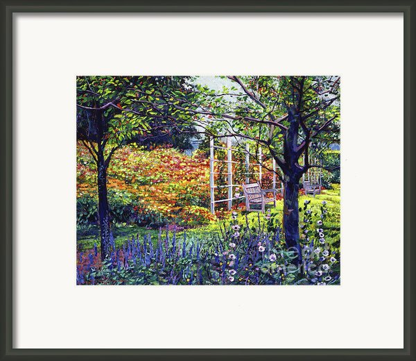 Garden For Dreaming Framed Print By David Lloyd Glover