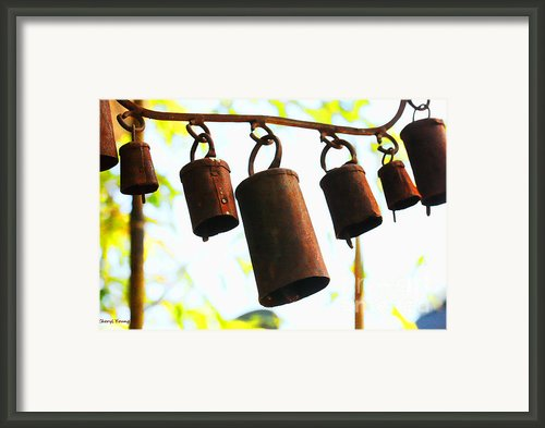 Garden Noah Bells 2 Framed Print By Cheryl Young