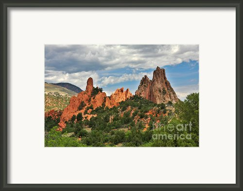 Garden Of The Gods - Colorado Springs Co Framed Print By Christine Till