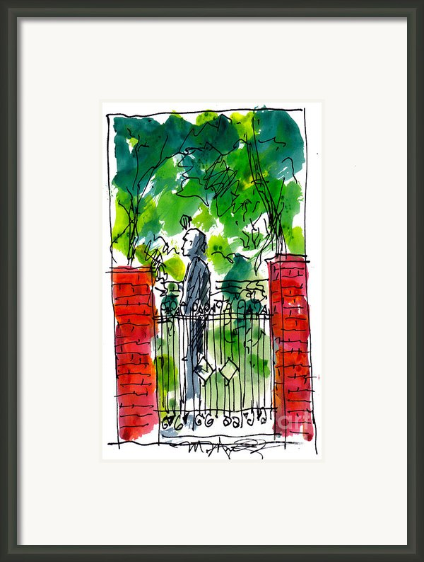 Garden Philadelphia Framed Print By Marilyn Macgregor