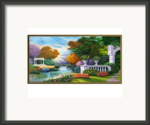 Garden View 1 Framed Print By Interior Aishwarya