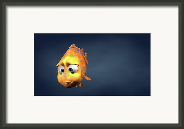 Garibaldi Fish In 3d Cartoon Framed Print By Baloom Studios