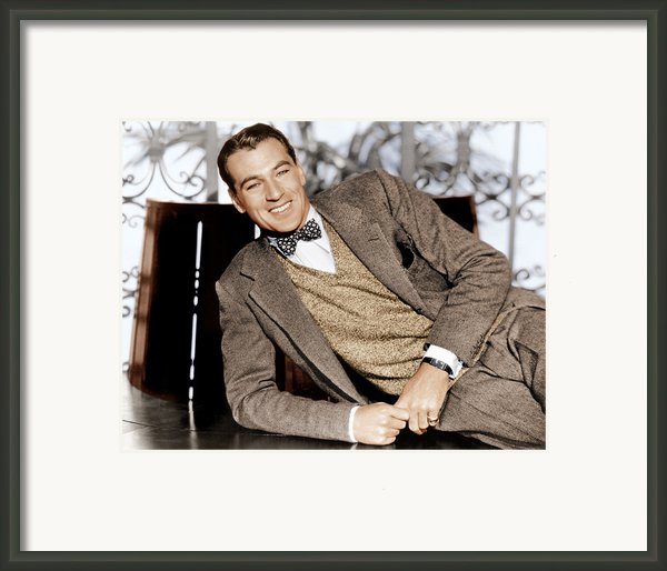 Gary Cooper, Ca. 1933 Framed Print By Everett