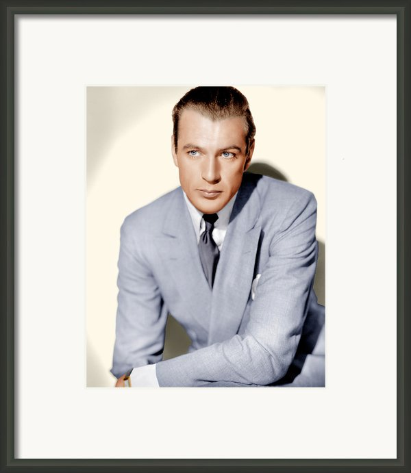 Gary Cooper, Ca. 1936 Framed Print By Everett