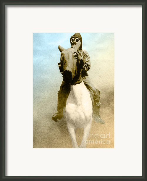 Gas Mask Framed Print By Photo Researchers