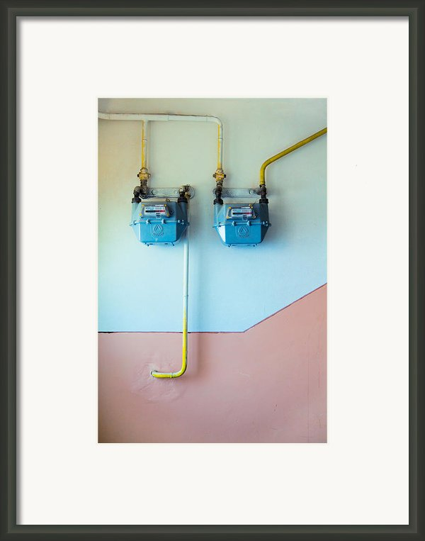 Gas Meters Framed Print By Gabriela Insuratelu