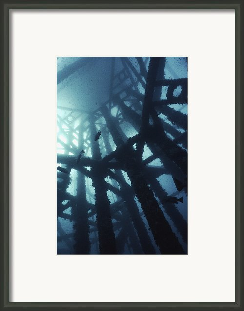 Gas Platform Support Tower Framed Print By Peter Scoones