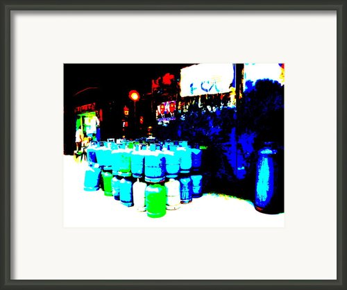 Gas Tanks In Beirut Framed Print By Funkpix Photo  Hunter
