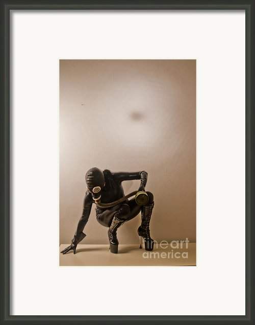 Gasmask Framed Print By Dominique De Leeuw