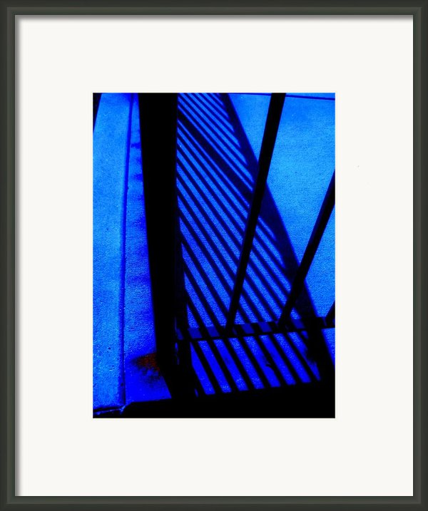 Gated Blue Framed Print By Allen N Lehman