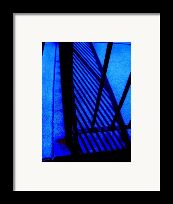 Gated Blue Framed Print By Allen N Lehman
