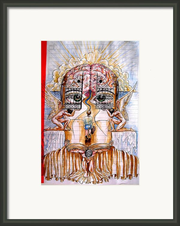 Gates Of Self-knowledge Framed Print By Paulo Zerbato