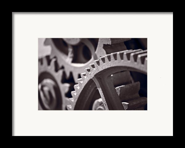 Gears Number 3 Framed Print By Steve Gadomski