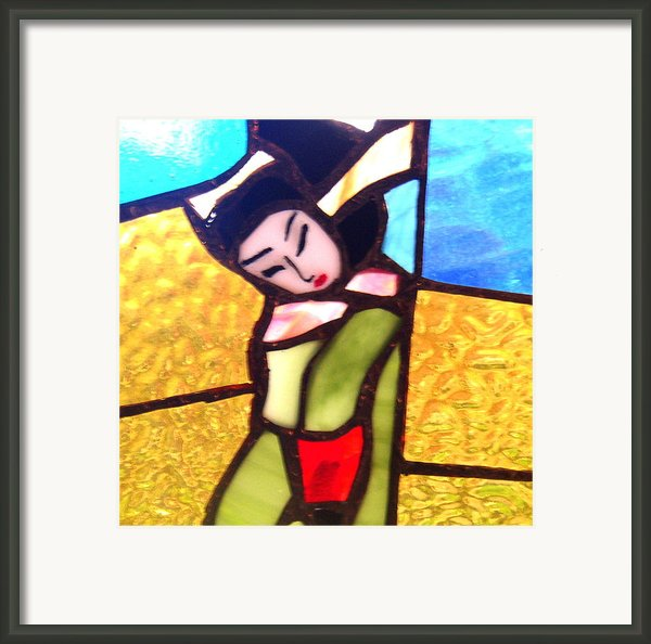 Geisha In Doorway Framed Print By Patricia Lazar