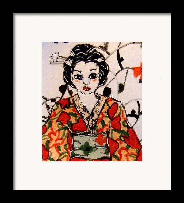 Geisha In Training Framed Print By Patricia Lazar