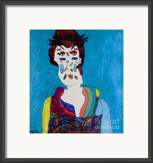 Geisha Framed Print By Stephanie Ward