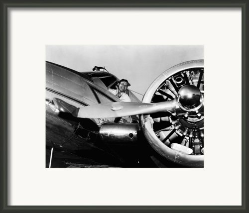 Gene Autry In His Airplane, 1955 Framed Print By Everett