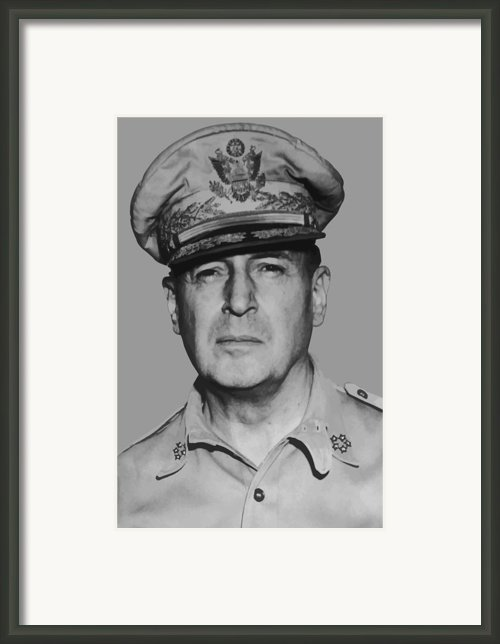 General Douglas Macarthur Framed Print By War Is Hell Store