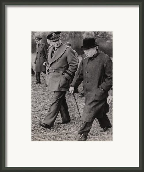 General Dwight Eisenhower, And Prime Framed Print By Everett