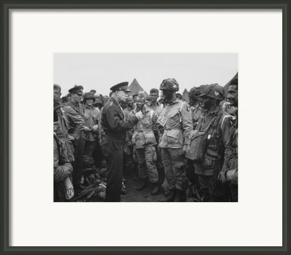 General Eisenhower On D-day  Framed Print By War Is Hell Store