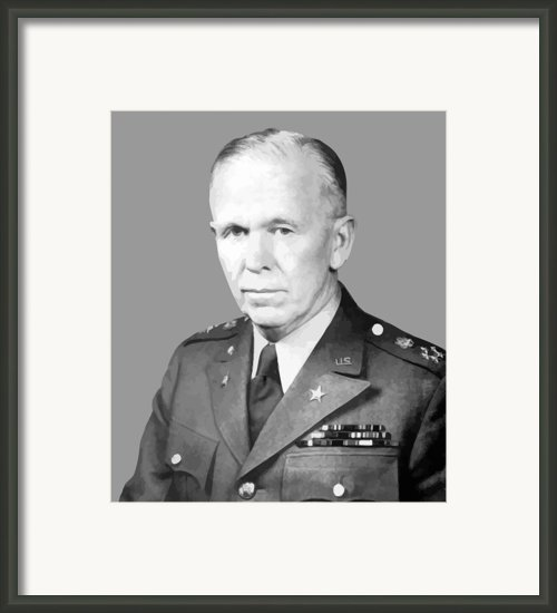 General George Marshall Framed Print By War Is Hell Store
