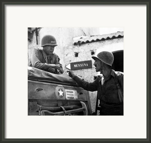 General Patton In Sicily Framed Print By War Is Hell Store