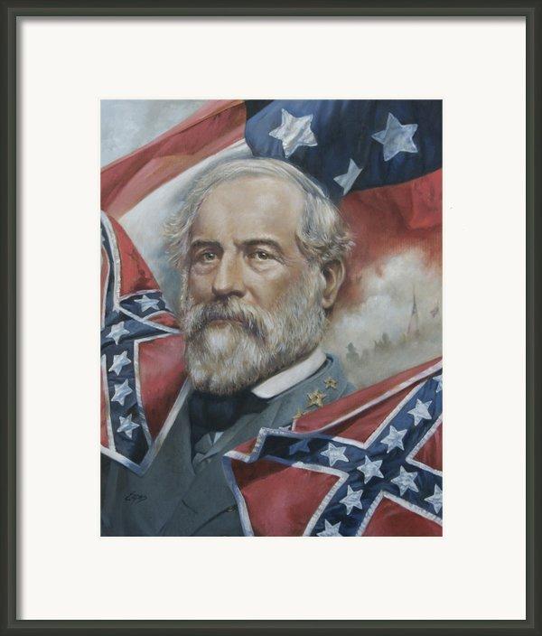 General Robert E Lee Framed Print By Linda Eades Blackburn