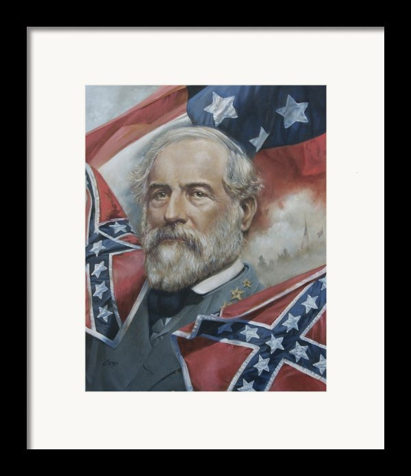 General Robert E Lee Framed Print By Linda Eades Blackburn
