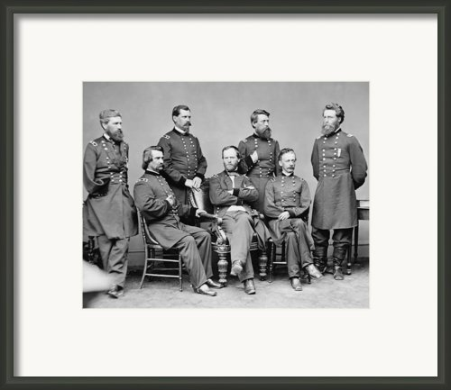General Sherman And His Staff  Framed Print By War Is Hell Store