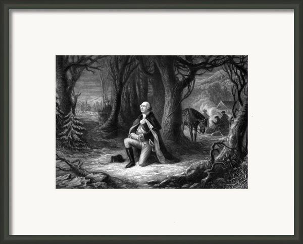 General Washington Praying At Valley Forge Framed Print By War Is Hell Store