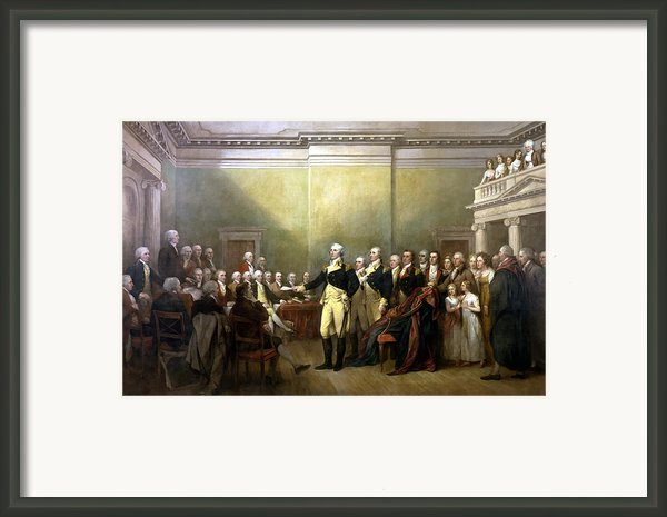 General Washington Resigning His Commission Framed Print By War Is Hell Store