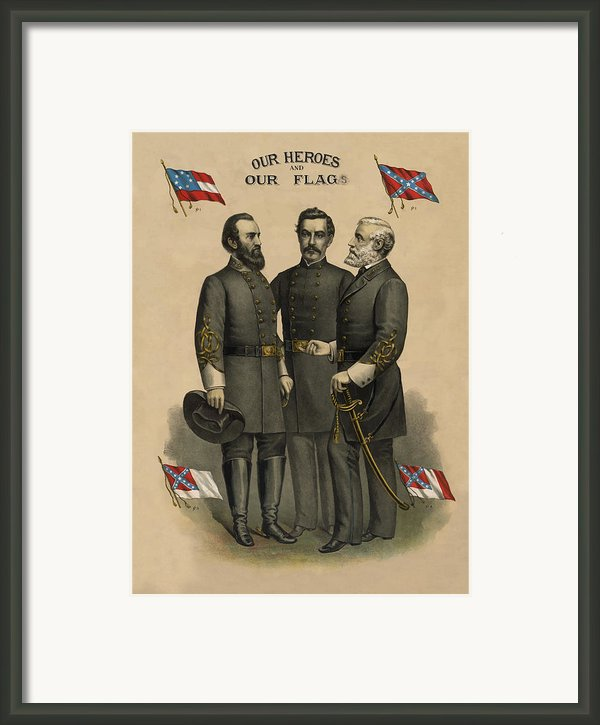 Generals Jackson Beauregard And Lee Framed Print By War Is Hell Store