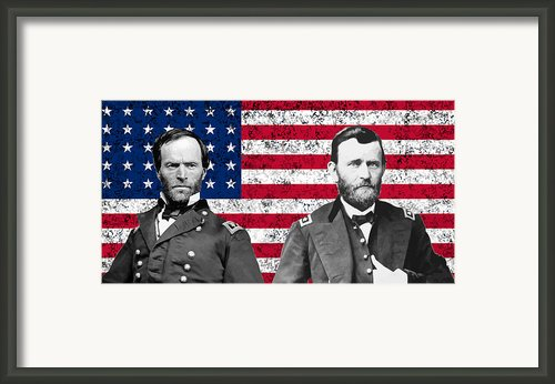 Generals Sherman And Grant  Framed Print By War Is Hell Store