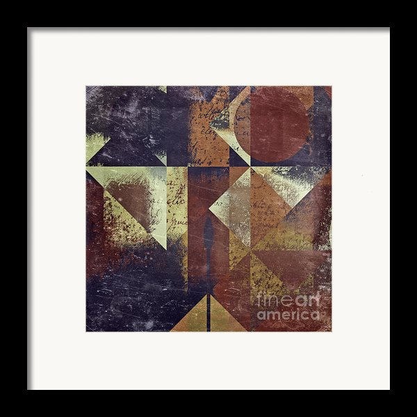 Geomix 04 - 6ac8bv2t7c Framed Print By Variance Collections